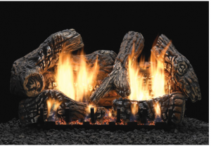 Empire Charred Oak Vent Free Gas Log Set