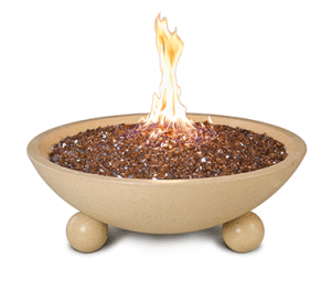 AFD 32-in Cafe Blanco Versailles Fire Bowl
