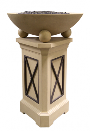 AFT 44-in Cafe Blanco Fire Bowl Pedestal