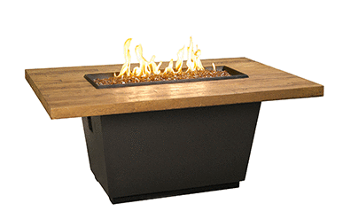 AFD FBO Cosmo Rectangle Chat Fire Table