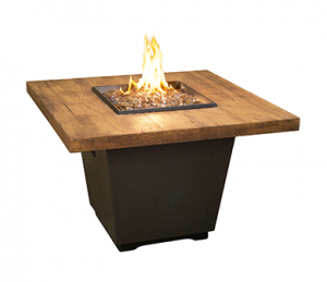 AFD FBO Square Chat Height Fire Table