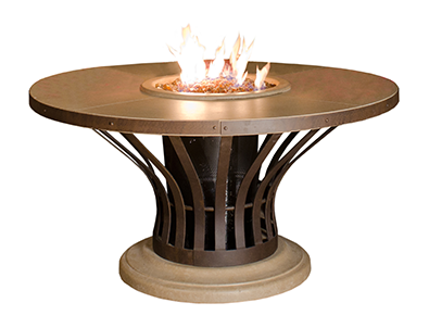 AFD Fiesta Round Dining Height Fire Table