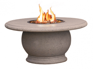 AFD Smoke Amphora Round Chat Height Fire Table
