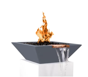 Outdoor Plus 24-in Maya Fire & Water Bowl
