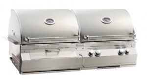 Fire Magic A830i Aurora Gas n Charcoal Built-in Grill analog therm