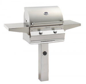Fire Magic Aurora A430s In-Ground Post Mount Gas Grill analog therm