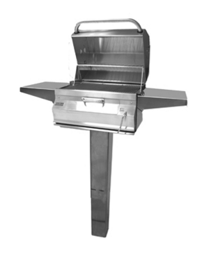 Fire Magic Legacy Patio Post Mount Charcoal Grill