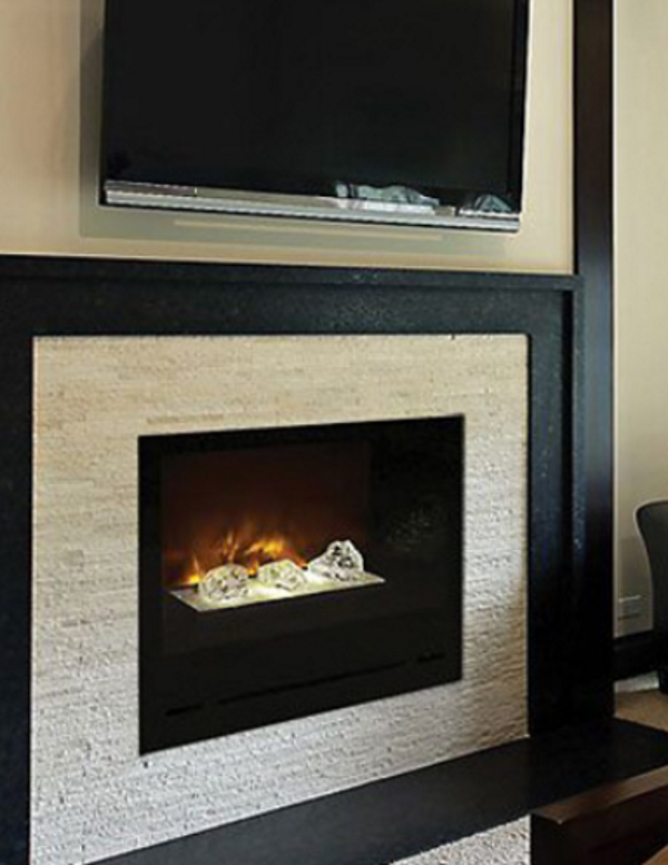 Modern Flames 36 Home Fire Built In Flush Mount Electric Fireplace W Gl Focus Bowl