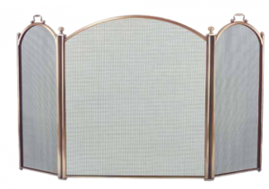 Dagan 3-fold Arched Fireplace Screen Antique Brass