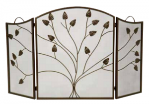 Dagan 3-fold Arched Fireplace Screen Bronze
