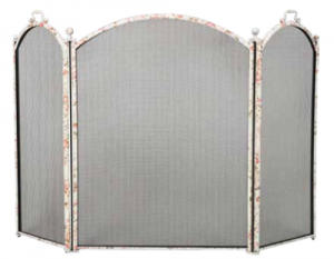 Dagan 3-fold Arched Fireplace Screen Floral Design