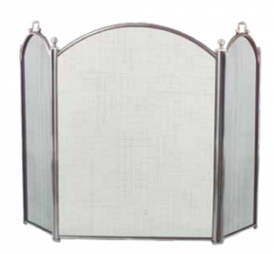 Dagan 3-fold Arched Fireplace Screen Pewter