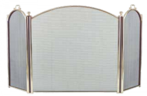 Dagan 3-fold Arched Fireplace Screen Polished Brass