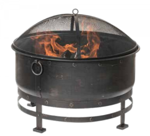 Dagan Cauldron Wood Fire Pit Bronze