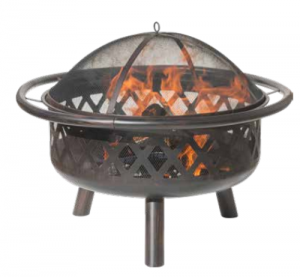 Dagan Criss Cross Wood Fire Pit Bronze