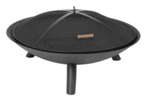 Dagan Deep Bowl Design Wood Fire Pit Cast Iron