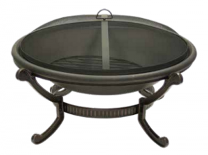 Dagan Large Round Wood Fire Pit